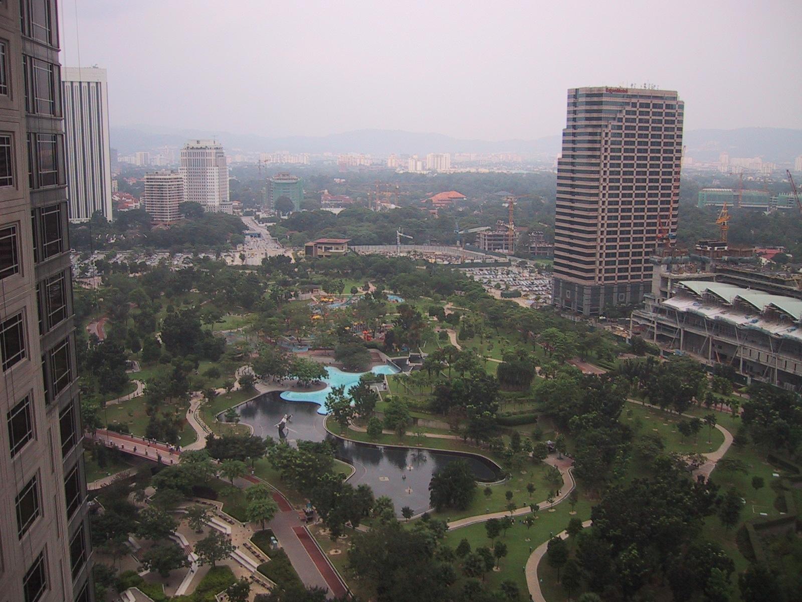 Kuala Lumpur hotellin ikkunasta
