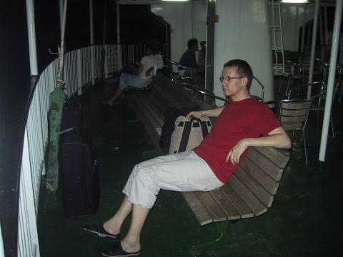 Väsynyt laivamatkalainen